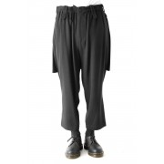 Back Pleats Slim Pants-Black-2