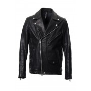 Cow Hide Leather Riders jacket RB-028 Black-Black-4