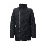 Graet Twill × Chekian Lamb 2WAY Jacket RB-052-Black-3