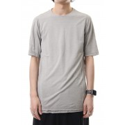 Short sleeve Japanese paper jersey Products dyed - White Gray-White Gray-1