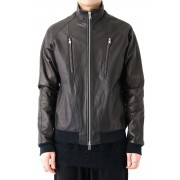 Bonding Deerskin Track Jacket-Black x Black-1