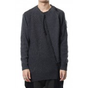 Patchwork knit-Gray-1
