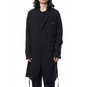 GRUNGE ROBE COAT-Black-3