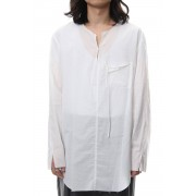 BUTTON & STRING TUNIC WHITE-White-2