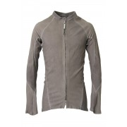 Stretch Leather Shirt - ARPENTEUR ALU-Beige Gray-S