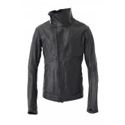 High Neck Leather Jacket  - IMPARABLE-VACHKIRI-Black-S