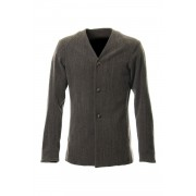Jacket Wool / Cotton Raschel Knit Brown Gray-Brown Gray-1