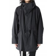 Over Size Military Coat-Black-1