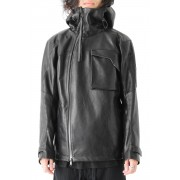 Yoemite Hooded Leather Jacket 4.0-Black-1