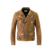 SUEDE BIKERS JACKET-Brown-42