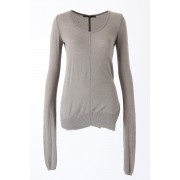 Knit Pullover - ag-0104-Gray-38