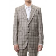 TAILORED LINE SIGNATURE 2B JACKET-Brown / Beige-44