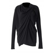 60/1 Techno Lama Silk Milan Rib Tops - CS03-T03-Black-2
