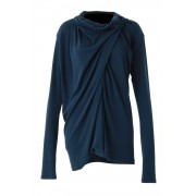 60/1 Techno Lama Silk Milan Rib Tops - CS03-T03-Navy-2