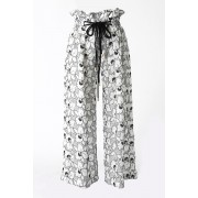 LENO LACE WIDE PANTS - SATOKO OZAWA-White-2