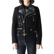 GOAT SUEDE DOUBLE RIDERS JACKET-Black-46