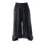 LEATHER APPLIQUE CULOTTES - SATOKO OZAWA-Black-Free