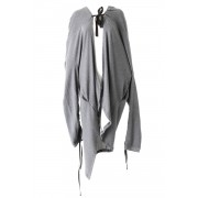 Big Hooded Cardigan - AL-1370-Gray-Free