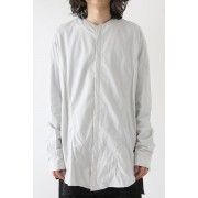 SEAMED COLLARLESS SHIRT-PLASTER-1