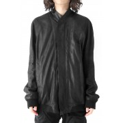 SEAMED BOMBER JACKET-Black-1