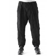 Double Tuck Hem Rib Pants-Black-2