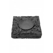 SCRAP LEATHER ASH TRAY-BLACK-FREE