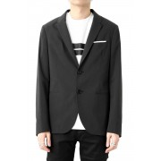 CARDIGAN CONSTRUCTED PAPER CLIPS JACKET-Black-44