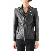 16AW LEATHER BIKER JACKET -BLACK-1