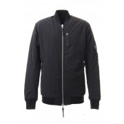 Reversible Bomber Jacket-Black-S