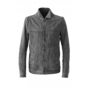 Stretch Denim Jacket-Charcoal-3