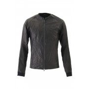 Jacket Deer Leather Black-Black-1