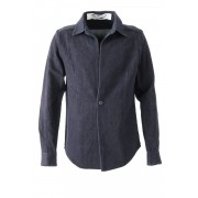 Shirt SH31 Cotton Linen Herringbone Denim - individual sentiments -Indigo-0