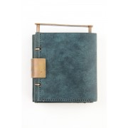 Cow Leather Wallet-Petrolio-Free