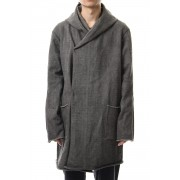 Heavy Jersey Hooded Coat Carbon-Carbon-Free