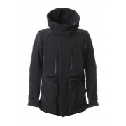 Schoeller Cork Shell 4way Stretch Hood Jacket-Black-1