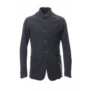 Jacket Cotton Double Jersey-Charcoal-1