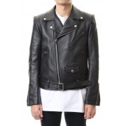 LAMBSKIN BIKE'S JACKET-Black-44