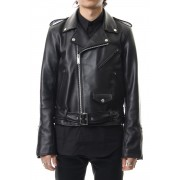 LAMBSKIN BIKE'S JACKET-Black-46