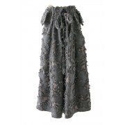 Layered Long Cut Jacquard Skirt - 08-S03-Grage-2