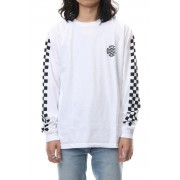 Checckerd L/S-White-M