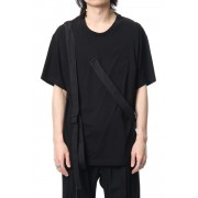 Hang sash T-shirts-Black-2