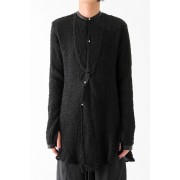 17SS NO COLLAR LONG SHIRT -WASHI- -BLACK-S