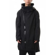 WATER REPELLENT MILITALY COAT-Black-0