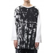 Switch roller print long sleeve T-shirt   NV-T55-071-White-2
