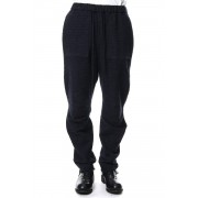 Pants PA88 Nep & Mole Fur Stretch Border-Navy Black-0