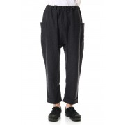 Home Span Wool pants-Charcoal-Free