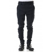 Uneven Yarn Selvedge Denim Slim pants-Black-1