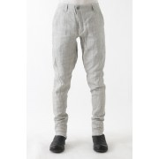 Jodhpurs Pants Linen Denim Charcoal Dyed-Dirty White-1
