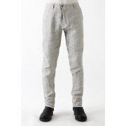 Slim Pants Linen Denim Charcoal Dyed-Dirty White-1