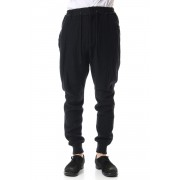 Double Face Easy Pants-Navy Black-1